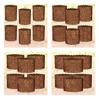 6pcs Baking Paper Molds for Easter Bread Cakes Panettone Paska Kulich Кулич