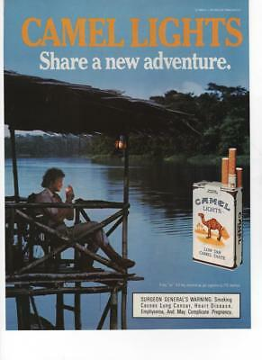 1987 - Camel Lights Cigs - Share A New Adventure - Vintage Print Ad