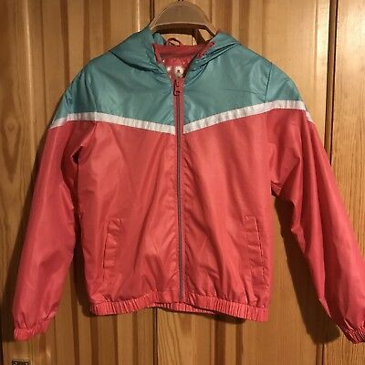 Pink / Green Sporty Tracksuit Jacket / Hoodie Age 10-11 Years