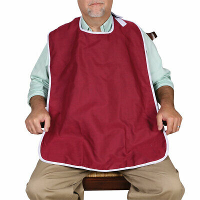 "Oversized Waterproof Wide Adult Bib - 22"" Neck Hole"