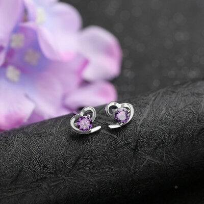 Chic Ladies Hollowed Love Heart Shape Sparkling Rhinestone Earrings Ear Stud one