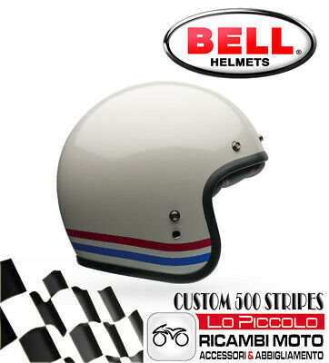 Casco Bell Custom 500 Stripes Jet Bianco Perlato Mis. M