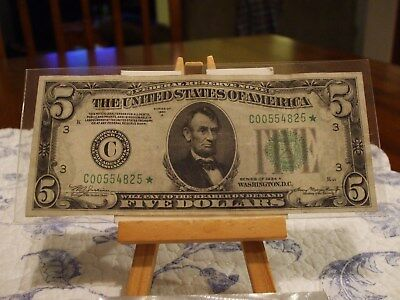 1934/a $5 Federal Reserve Star Note,philly District,great Eye Appeal