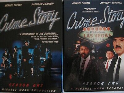 Crime Story  Complete Series   2 Seasons 9 DVD's
