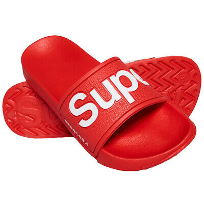 Superdry NEW Women's EVA Pool Slide Flip Flops - True Red BNWT