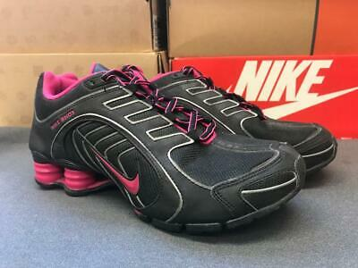 half off 6b9c5 bf6ea Womens Nike Shox Navina Sneakers New, Black   Dark Pink 356918-065 6.5 no