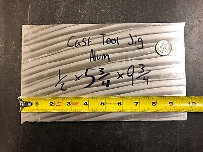 1pc - 1/2 x 5.5 x 9.5 - Cast Tool And Jig Aluminum Plate Quantity Available!!