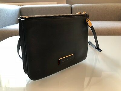 3e9a2900c05f0 Marc by Marc Jacobs Ligero Double Percy Crossbody Handtasche - Schwarz    Gold