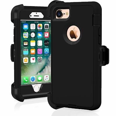 iPhone 6 iPhone 6s Rugged Case w/Holster Belt Clip Fits Otterbox Defender Black