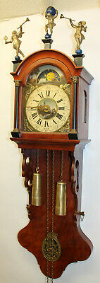 Old Wall Clock Friesian Dutch Schippertje Clock Vintage with Moonphase 110cm