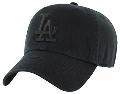 separation shoes 0abed 98cf5  47 Brand Los Angeles Dodgers Clean Up Dad Hat Cap Core All Total Solid  Black.