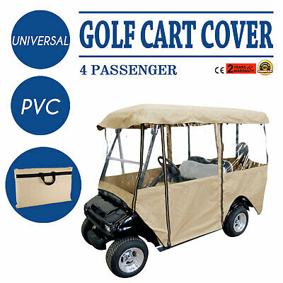 4 Passenger Golf Cart Cover Driving Enclosure Water Repellent PVC Protection