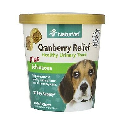 NaturVet  Cranberry Relief For Dogs Plus Echinacea  60 Soft Chews  NEW SEALED