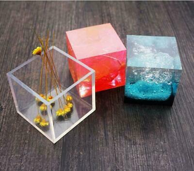 MOLD CUBE PENDANT Jewelry Silicone DIY Mould Craft MSH-4 Epoxy Resin Making
