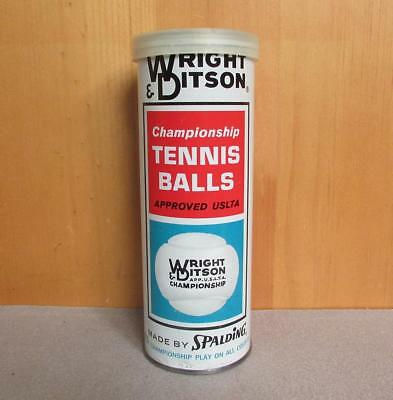 Vintage Wright & Ditson AG Spalding Co Tennis Ball Can 3 Balls Advertising Nice