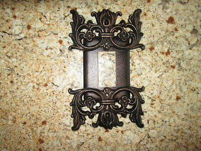 Metal Single Rocker Switch Plate Cover - Old World Medieval Tuscan Gothic Rococo
