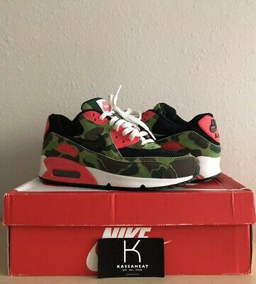 size 40 303a9 9a6ce Nike Air Max 90 Premium Og Atmos Duck Camo Black Chlorophyll Infrared White  7