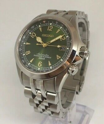 14f30bc6726 Seiko Alpinist- (SARB017) with Strap Code Angus Jubilee Bracelet -  Box Papers