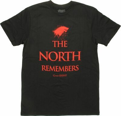 Game Of Thrones THE NORTH REMEMBERS DIREWOLF T-Shirt NWT Licensed & Official