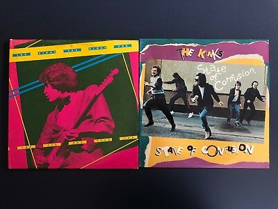 Lot of 2 KINKS Vinyl LP - State of Confusion & one for the road