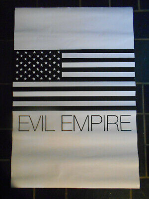 RAGE AGAINST THE MACHINE double sided PROMO POSTER WE SUPPORT THE TROOPS PUNK