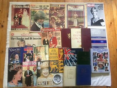 24 Items of Royal Memorabilia. The Queen, Charles, Diana, Princess Anne etc.
