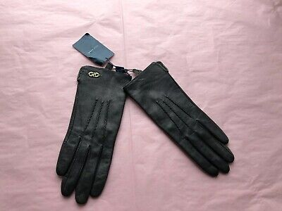 Cole haan Womens Leather Gloves! Bran New! Charcoal Grey! Small