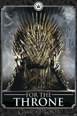 GAME OF THRONES FOR THE THRONE 24x36 poster HBO TV SEASON 8 NEW GIFT JON SNOW!!!