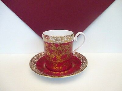"Royal Albert Red ""Floral Chintz"" Demitasse Cup and Saucer, England"