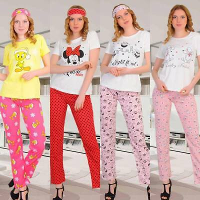 37ad156546e New Ladies Women Pyjamas Set Cotton Nightwear Nightdress Bed Comfort  Fasihon UK