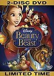 Beauty and the Beast DVD 2 Disc Set New & Sealed comes with Slipcover Free Ship!