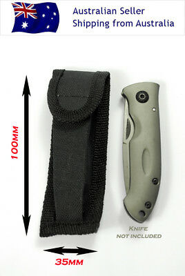 2 X Nylon Sheath Belt Sheath Pouch Pocket Knife Hunting Camping Fishing Sport AU
