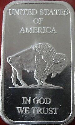 Silvertowne  Liberty Buffalo Indian Head .999 Fine Silver Bar 1 oz - Lot of Two