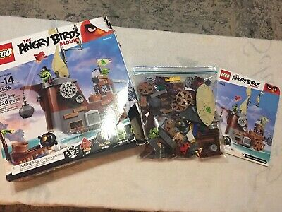 Lego Angry Birds King Pigs Castle Building Kit 75826 Incomplete