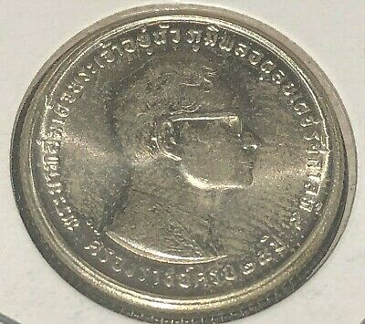 Thailand 1971 Rama IX 25th Anniversary of Reign 10 baht silver coin lovely unc