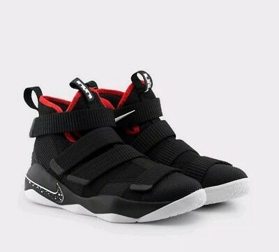 50a0990003fd8 6 YOUTH Nike Lebron James Soldier XI black red 918369 002 Basquetball Shoes  6Y