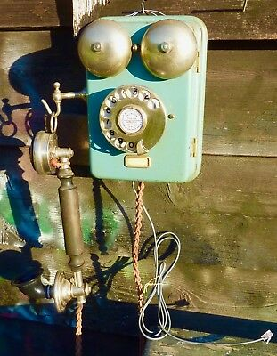Vintage Ericsson Wall Phone..Fully working.Fully original.Stunning.C1930..