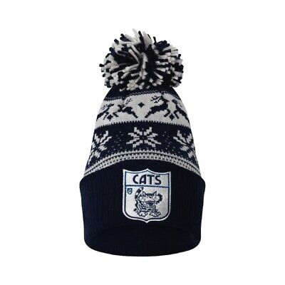 Geelong Cats Official AFL Adults Snowflake Beanie Mens Ladies Winter