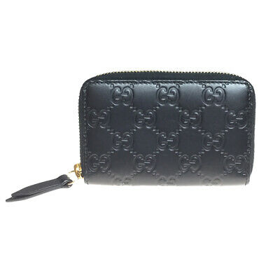 bf5abfe715d Auth Gucci Guccissima Leather 447939 Coin Purse coin Case Black
