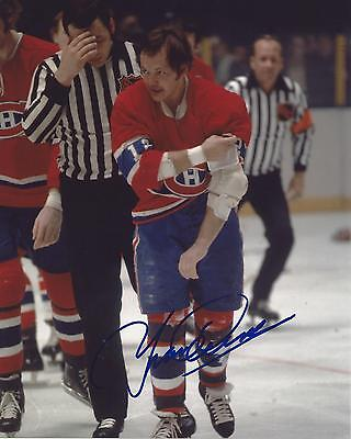 f586376a3b9 YVAN COURNOYER SIGNED 8x10 Photo Montreal Canadiens Autographed COA ...