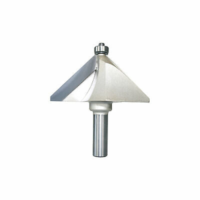Chamfer Router Bits 45 Degree 1/2-Inch Shank 2-Inch Cutting Length About 1-Inch
