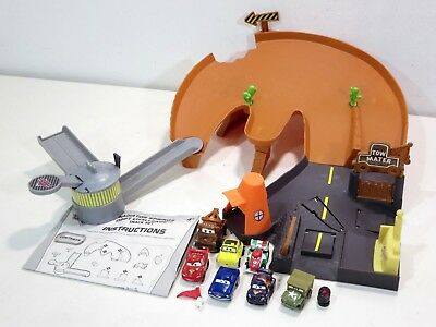 Disney Pixar Cars Micro Drifters Drift Challenge Mini Playset Extra Cars