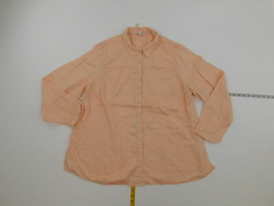 Womens CATO 18/20W Plus  Button Down Top Pink  Long Sleeve