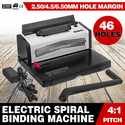 Electric Steel Coil Binding Machine Comb Puncher A4 A5 Papers Spiral 220 Papers