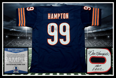 7889548bd89 BRIAN URLACHER AUTOGRAPHED Signed XL Chicago Bears Navy Football ...