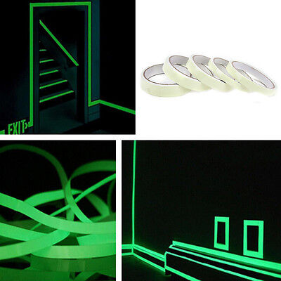 Luminous Tape Waterproof Self-adhesive Glow In The Dark Safety Stage Home Dec EB