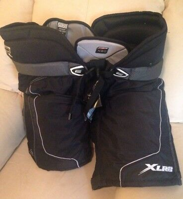 Ice Hockey Protective Pants - DR HP80 Senior - Black With Silver Lining