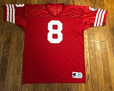 Vintage Champion San Francisco 49ers Steve Young Mens Size 44 Football  Jersey 9eb6dadd0