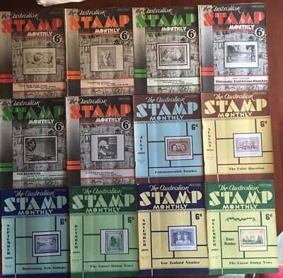 The Australian Stamp Monthly Volume 9 # 1 to 121938 + Index Sheet  GC-VGC