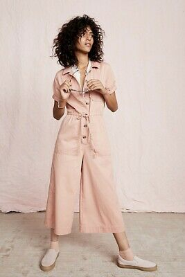 820889a2976 NWT WOMENS MADEWELL Wide-Leg Utility Jumpsuit Coveralls Dried Coral ...